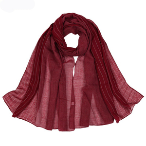 Image 4 - Autumn Winter Good Quality Scarves Women Cotton Scarf Shawls and Wrap Hijab Scarf  Ladies Warm Long Shawl Muslim Head Hijab