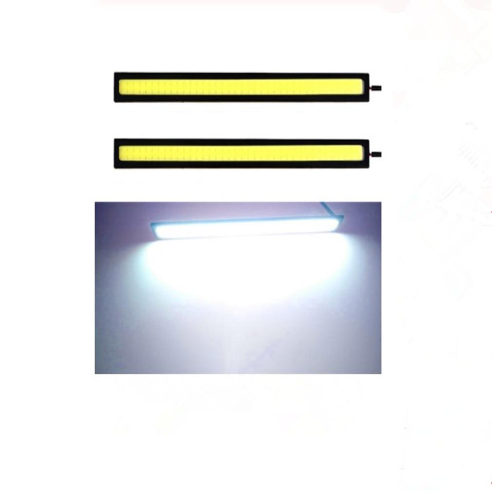 2PCS 6W 17cm COB Car Daytime Running Light Car DRL LED Strip Light External Light Car Waterproof White DRL Light