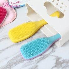 Huiyun magia lidar com pente anti-estática massagem escova de cabelo não emaranhado chuveiro pente de salão de beleza ferramentas de estilo de cabelo cabeleireiro
