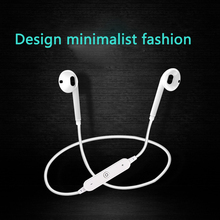 Wireless Bluetooth Earphone Stereo Neckband Sports In ear Headset Earbuds with Mic For iPh Samsung sweatproof rainproof bh503 wireless bluetooth headset stereo sports headphone neckband earphone with mic for iphone samsung htc