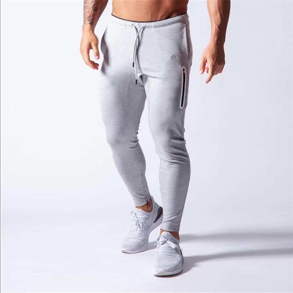 New Jogging Pants Men Sport Sweatpants Running Pants Men Joggers Cotton Trackpants Slim Fit Pants Bodybuilding Trouser 20CK01-2 4