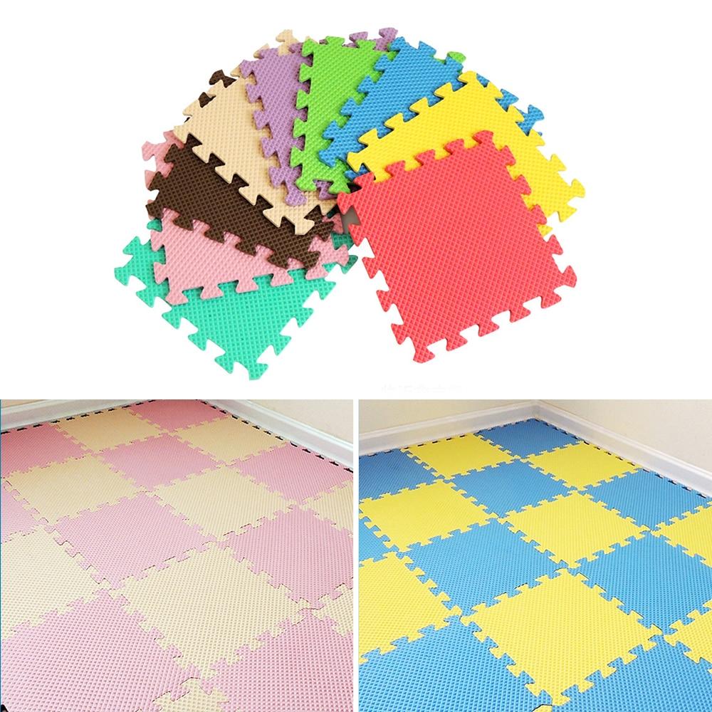 Eva Foam Soft Play Mats Interlocking Kids Activity Set Floor 29cm Tiles 18Pcs