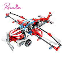 Rosana Fighter Model Building Blocks Sets Technic Airplane Model Glider Plane Pullback Educational Toys for Children Kid Gifts lepin block creator sopwith camel fighter model set plane toy compatible with 10026 kids gifts for children educational 21021