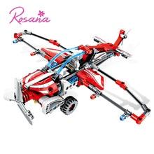 Rosana Fighter Model Building Blocks Sets Technic Airplane Model Glider Plane Pullback Educational Toys for Children Kid Gifts rosana cordoba