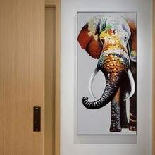 Абстрактная картина с рисунком животных стены художественные