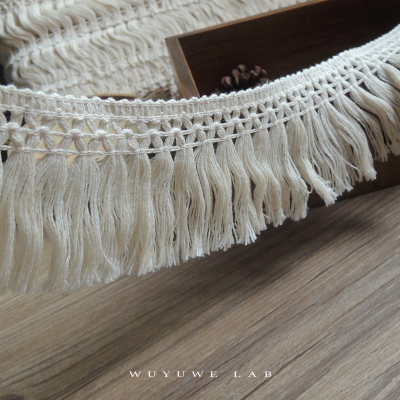 2 ярда бежевый полый хлопок кисточка кружевная отделка ткань «сделай сам» Швейные аксессуары ручной работы декоративный материал шнур для ...