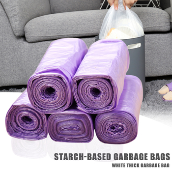 100/200PCS 5rolls Large Garbage Bags Black Thicken Disposable Environmental Waste Bag Privacy Plastic Trash Bags Kitchen 45x50CM