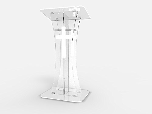 Fixture Displays Plexiglass Acrylic Podium Clear Lectern Church Pulpit With Cross Decor  Church Souvenirs
