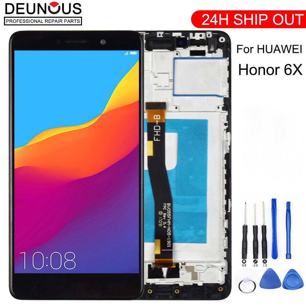 شاشة عرض LCD جديدة لهواوي الشرف 6X BLN-L24 BLN-AL10 BLN-L21 شاشة تعمل باللمس محول الأرقام جو مجموعة أدوات مجانية