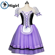 purple giselle ballet tutu for girls dresses brown ballerina dress kids pink Romantic dressBT8904C