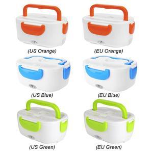 Image 4 - 2 in 1 Tragbare Edelstahl Liner ABS Shell Elektrische Heizung Lunch Box Lebensmittel Heizung Container Küche Geschirr
