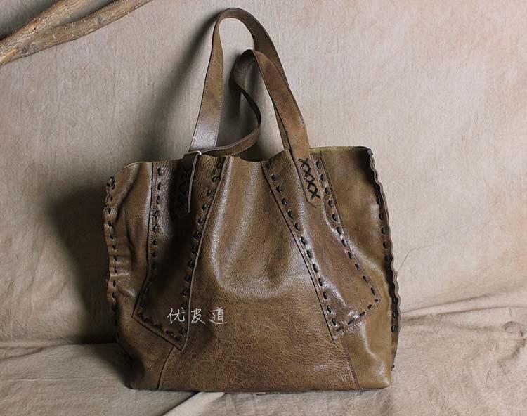 escova cor senhora saco de couro real grande saco