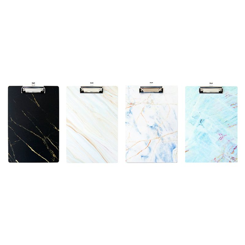 A4 Marble Clipboard Writing Pad File Folders Board Clip Document Holder School Office Stationery Supplies