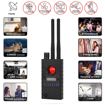 Wireless Bug Detector Signal for Hidden Camera Laser Lens GSM Listening Device Finder Radar Radio Scanner new rf signal bug detector laser lens gsm device finder home security safety