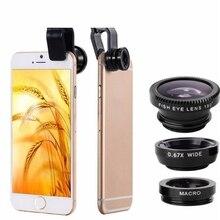 Universal 3 in 1 Wide Angle Macro Fisheye Mobile Phone