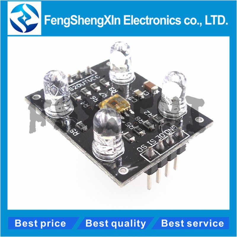 1pcs Nuovo TCS230 sensore di Colore Modulo del Rivelatore Del Sensore di Riconoscimento di Colore TCS3200 DC 3-5V Ingresso