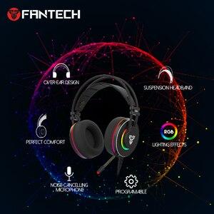 Image 2 - Słuchawki FANTECH HG23 słuchawki z mikrofonem wtyczka USB gamingowy zestaw słuchawkowy i Ac3001 stojak na słuchawki dla najlepszego odtwarzacza gier PUBG LOL FPS