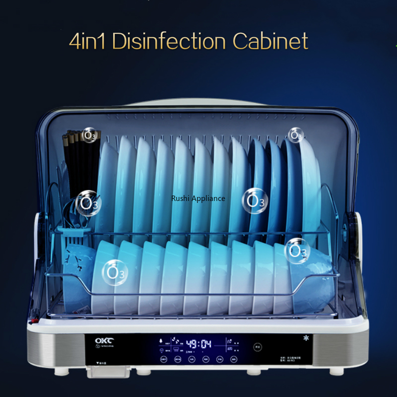 Electronic Dish Dryer Disinfection Cabinet 304 Stainless Steel Household UV Sterilizer Ozone Negative Ion Purification Cabinet