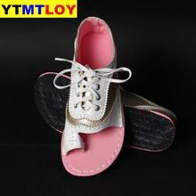 HOT Shoes mujer 2020 gran oferta de verano de las mujeres de las muchachas de las señoras Retro Sandalias planas del dedo del pie del Peep zapatos ocasionales sandalias de mujer Roma