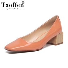 Taoffen Office Lady Pumps Real Leather High Heels Shoes Wome