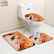 Набор ковриков для ванной с 3d рисунком в виде тыквы на Хэллоуин