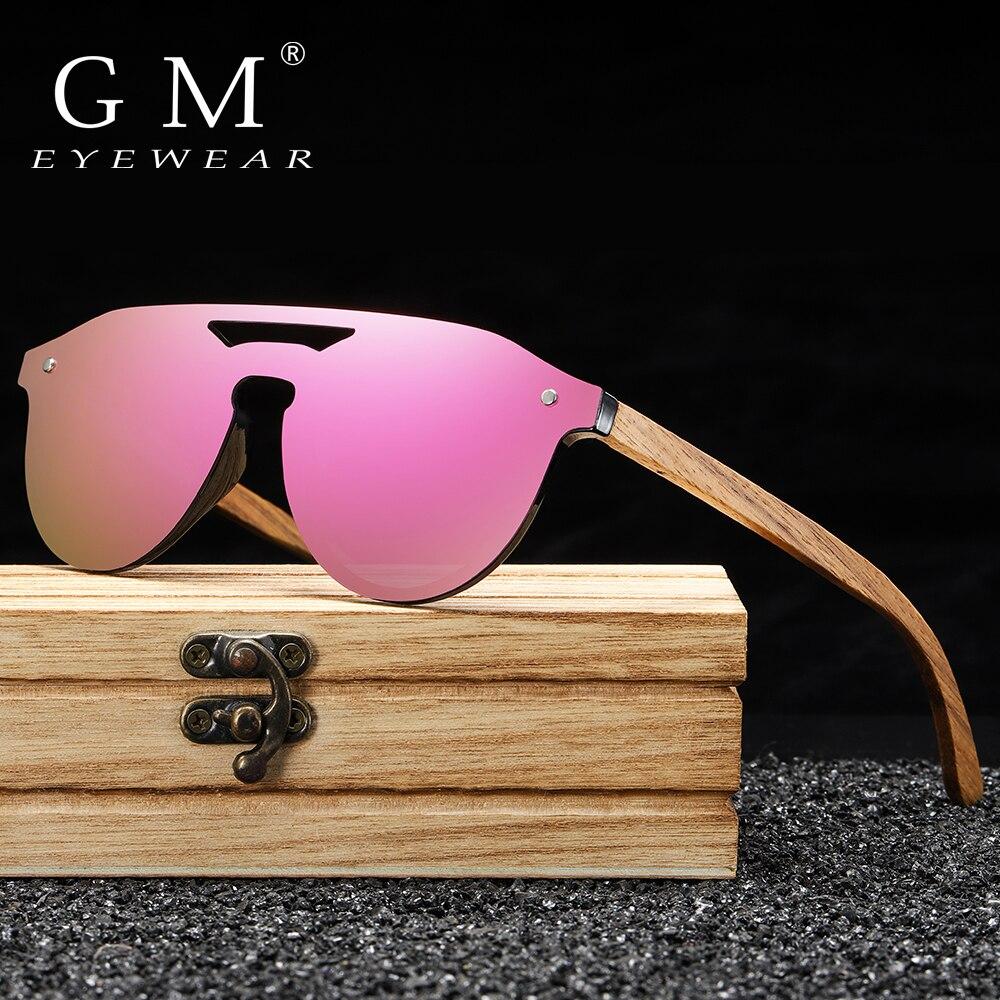 GM Women's Glasses Natural Zebra Wooden Sunglasses Men Polarized Fashion Sun Glasses Original Bamboo Oculos De Sol S5030