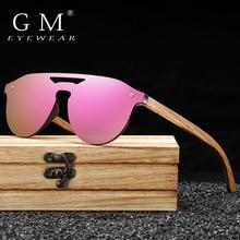 GM Women's Glasses Natural Zebra Wooden Sunglasses Men Polar