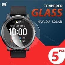 5 шт. 9H Премиум Закаленное стекло для Haylou Solar LS05 Smartwatch защита экрана XiaoMi Haylou аксессуары для солнечной пленки