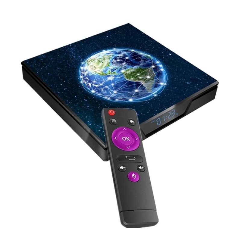 X99 Max Smart Android 9.0 TV Box UHD 4K Media Player Amlogic S905X2 4GB DDR4 64GB EMMC 2.4G / 5G Dual-Band WiFi BT4.1 100M LAN W