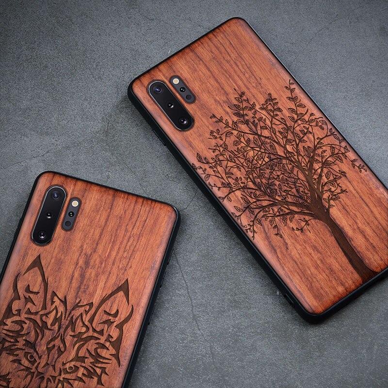 Kayu Kasus Untuk Samsung Galaxy S9 S10 Ditambah Catatan 9 8 10 - Aksesori dan suku cadang ponsel - Foto 2