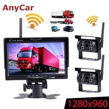 "Wireless Truck DVR Car Monitor 7"" CMOS Truck accessories IR Night Vision Reverse Backup Recorder Wifi Camera Parking System()"
