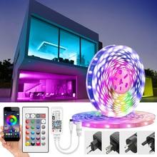 Светодиодная ленсветильник с Wi Fi, SMD 5050, 2835, RGB, Светодиодная лента, Диодная, 12 В постоянного тока, Светодиодная лента с Wi Fi контроллером
