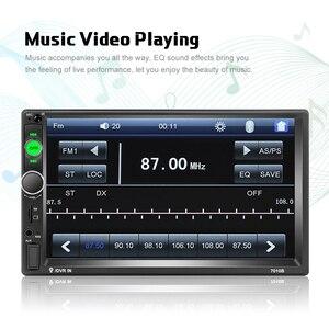 Podofo 2Din Автомагнитола 7 дюймов сенсорный экран Автомагнитола автомобильный MP5 плеер цифровой дисплей Bluetooth Мультимедиа USB 2din Автомагнитола