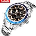 SMAEL 1430 Бизнес Кварцевые часы мужские модные наручные часы с двойным дисплеем 30 м водонепроницаемые часы мужские relojes hombre 2020 новости