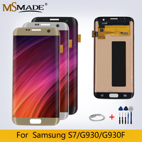 Original LCD For Samsung Galaxy G930F S7 G930A SM G930F LCD Display Touch Screen Digitizer Replacement Part Free Shipping