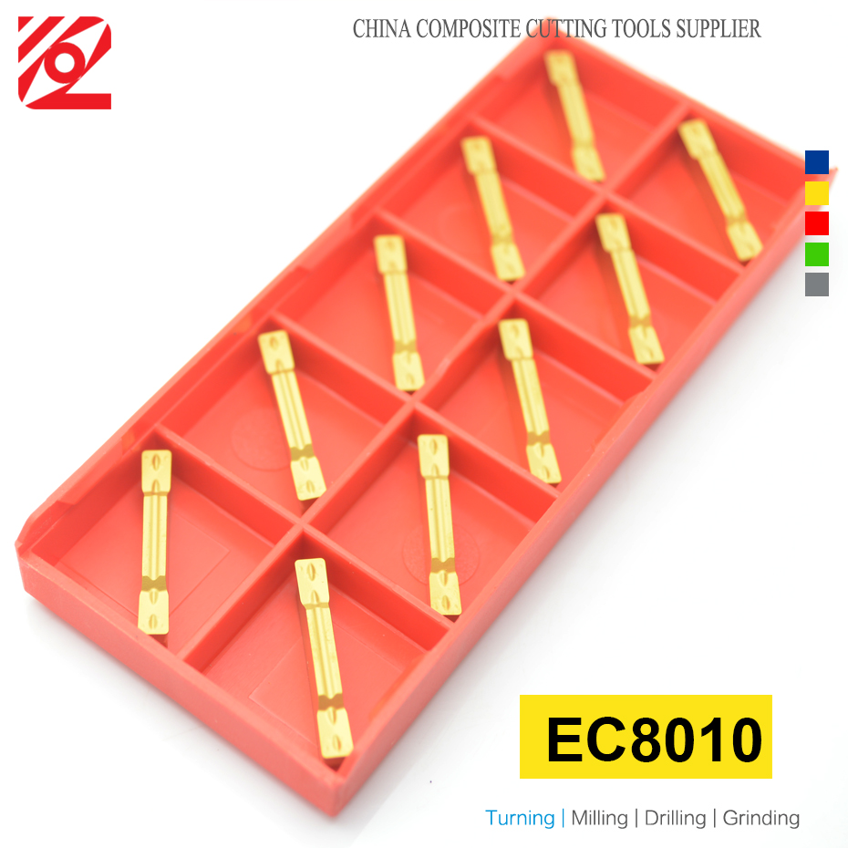 Купить с кэшбэком EDGEV 10PCS Grooving Carbide Insert MGMN150 MGMN200 MGMN250 MGMN300 MGMN400 MGMN500 MGMN600 MGMN CNC Turning Tools NC3020 PC9030
