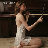 DRAIMIOR women exotic apparel Lingerie Sexy Hot Erotic Costumes Underwear Babydoll Sexy Lingerie Deep V Backless Pajamas DR0036