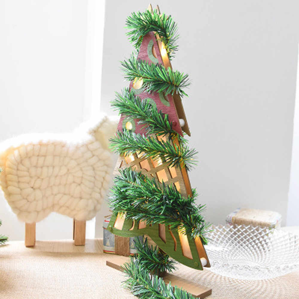 5.5M Christmas Party Xmas Tree Leaves Ornaments Tinsel Hanging Decorations Pine needles Rattan Christmas Ornaments For Tree
