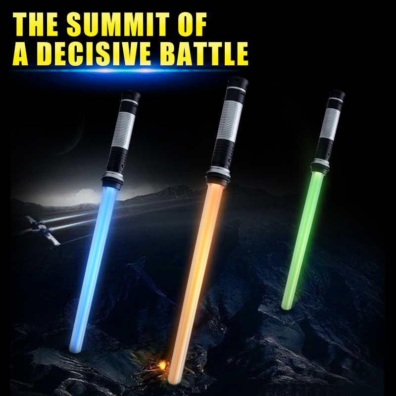 Lightsaber Toys For Children Saber Oyuncak Luminous Jedi Sabre Laser Sword Light Up Led Flashing Lightstick Glow In The Dark