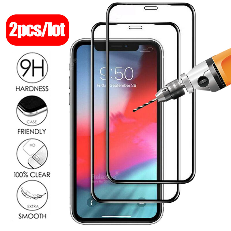 2pcs/lot Tempered Glass For Iphone 11 Pro 3D Full Cover Screen Protector On The For Apple Iphone 11 Pro Max 2019 Protective Film