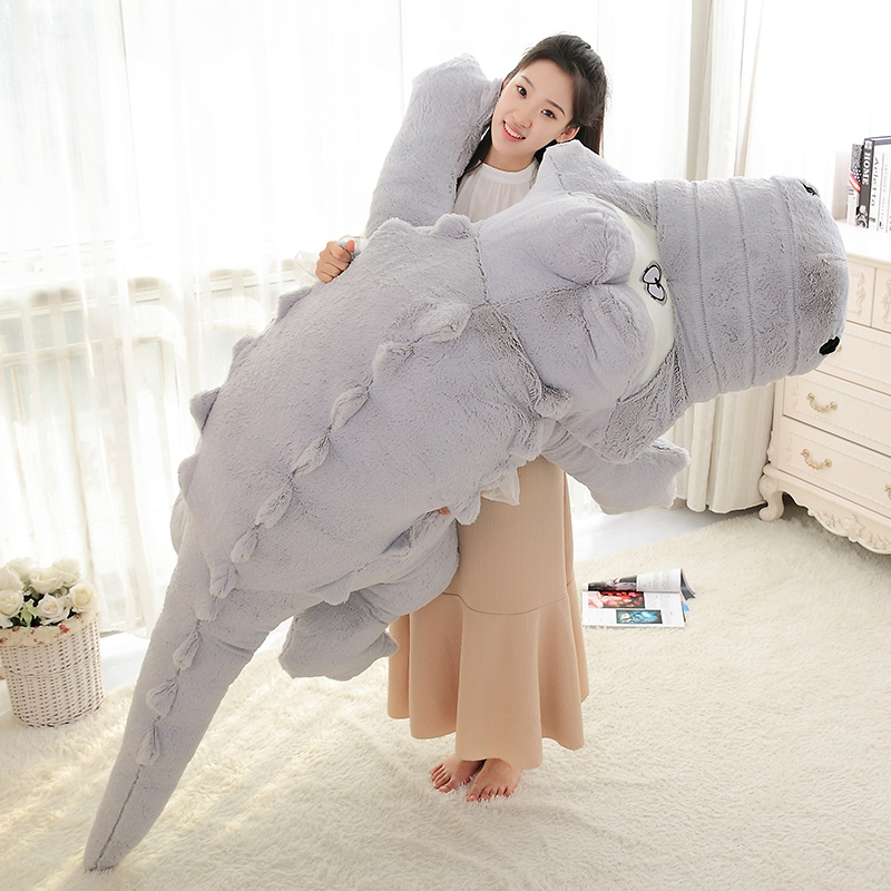 230cm Cute Animals Big Size Simulation Crocodile Skin Plush Toy Soft Stuffed Animal Toy Cartoon Plush Pillow Cushion Kids Gift