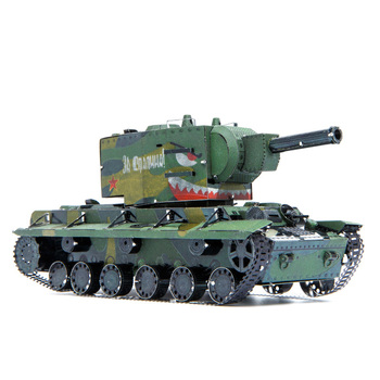 STEEL GOLEM MU Art Mold Metal DIY Soviet Tank KV2 Super tank 3D Laser Cutting Jigsaw Model Puzzle Toys for Adult printio soviet tank