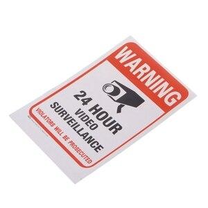 Image 2 - משלוח חינם 10 יח\חבילה PVC טלוויזיה במעגל סגור מעקב וידאו אבטחה מדבקת סימני אזהרה