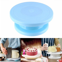 1pcs Plastic Cake Turntable Rotating Anti-skid Decorating Rotary Table Round Stand Kitchen Baking Tools