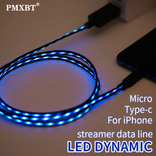 LED Glow USB Charge Cable Micro USB Type C Lighting Fast Charging Wire Telephone Cable for iPhone Samsung Data Sync Charger Cord usb charge data cable sync pc cord for sony camera cybershot dsc w800 b s h90 h100 h200 h300 h400 j20 a100 a200 a300 a350