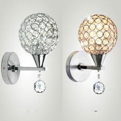 Chromowane srebrne ścienne kinkiety Foyer Living lampka nocna do sypialni kinkiet z kryształową oprawą kinkiety do domu