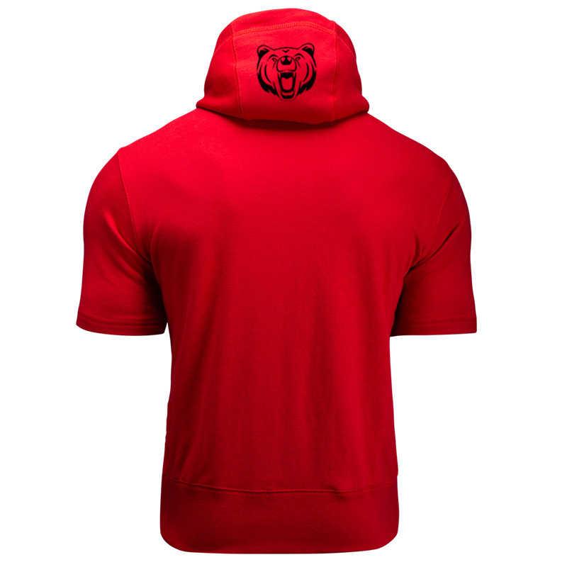 Мужская толстовка для бодибилдинга, Повседневная хлопковая толстовка без рукавов, с капюшоном, для фитнеса, 2020