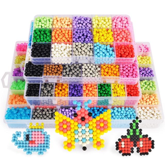 Refill Hama Beads Puzzle Aquabeads DIY Water Spray Beads Set Ball Games 3D Handmade Magic Toys For Girls Children 6