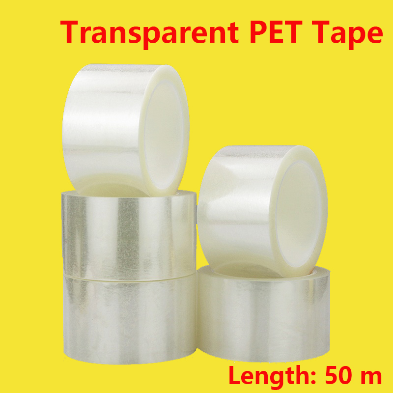 Transparent PET Tape Electrical Insulation Tape Transparent Tapes Film Heat-resistant One-sided Adhesive Tape