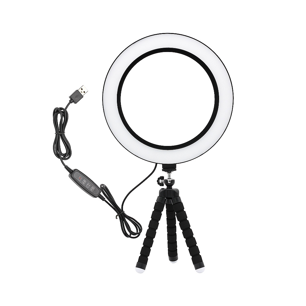6inch 8inch Dimmable USB LED Ring Light Photography Selfie Lamp Warm Natural White 4000K For Makeup Video Live Studio Fill Light